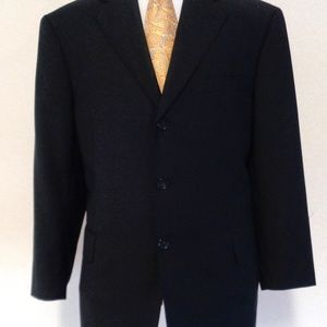 vV 1957  MEN SUIT 100% WOOL SIZE 42R MADE IN ITALY